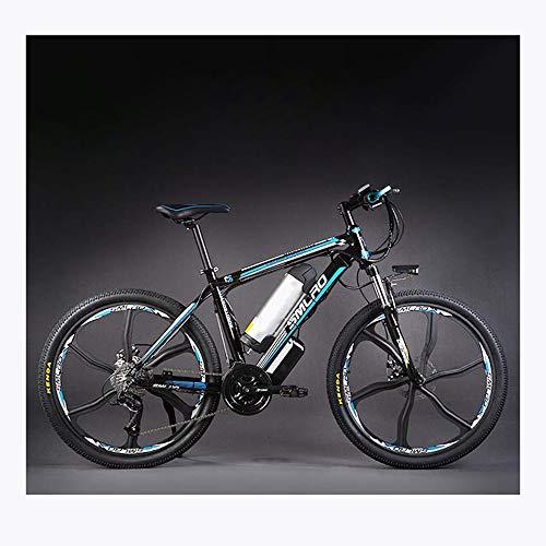 Augu Mountain Bike Elettrico, Mountain Bike Batteria al Litio Freno Elettrico ad Olio a Due Ruote 27 velocità 48V 350W 10AH con luci a LED per Uomo Do