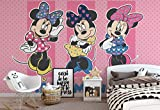 Wallsticker Warehouse Disney Minnie Mouse Fototapete - Tapete - Fotomural - Mural Wandbild - (1677WM) - XL - 208cm x 146cm - VLIES (EasyInstall) - 2 Pieces