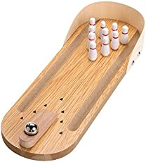 Generic Wooden Mini Desktop Parent-Child Fun Bowling Game Toy Set