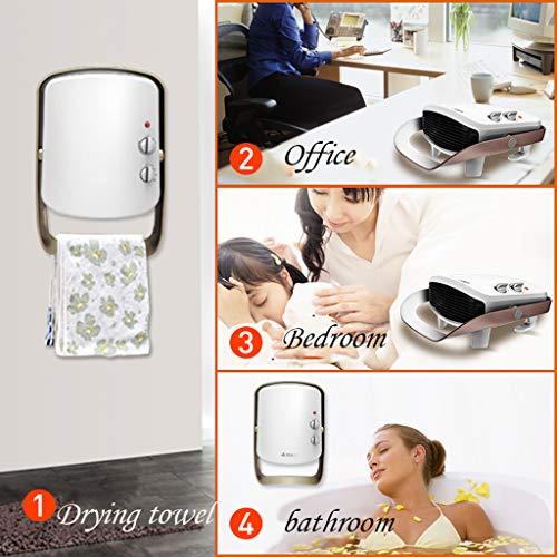 AZBYC Wall-mounted Fan Heater,electric Heater For Home 800/1200/2000W Waterproof Fan Heater, White Img 1 Zoom