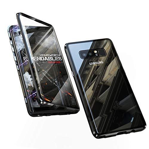 DoubTech Hülle für Samsung Galaxy Note 8 Magnetische Adsorption Tech Handyhülle Vorne hinten Gehärtetes Glas Unibody Design Starke Magneten Einbaurahmen 360 Grad Schutz Stoßfest Metall Flip Cover Design 8