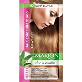 Marion Hair Color Shampoo in Sachet Lasting 4 to 8 Washes Aloe and Keratin - 62 Dark Blonde