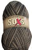 Gründl 100 gr. SOXS Sockenwolle 75% Schurwolle, 25% Polyamid inkl. Bambus Nadelspiel (07)