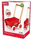 BRIO 31370 - Holz-Puppenwagen, rot, Motorikspielzeug