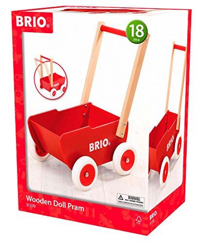 BRIO-31370-carro-de-la-mueca-de-madera-rojo-Destreza-juguete
