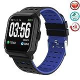 AMOYEE Smartwatch Fitness Armband Uhr Voller Touchscreen IP68 Wasserdicht Fitness Tracker Sportuhr mit Schrittzähler Pulsuhren Stoppuhr für Damen Herren Smart Watch für iOS Android Handy