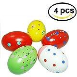 EQLEF® 4pcs niños de los niños del bebé de la arena de huevos de madera Instrumentos Musicales Juguetes huevo percusión
