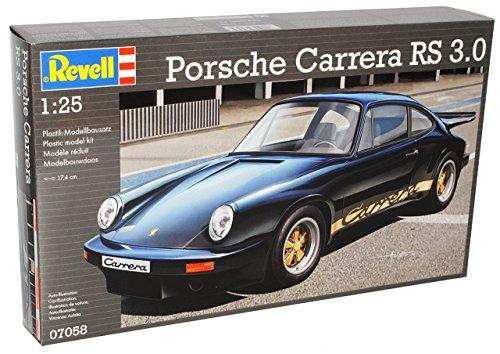 Porsche 911 964 Carrera RS Coupe Schwarz 1988-1994 07058 Bausatz Kit 1/24 1/25 Revell Modell Auto mit individiuellem Wunschkennzeichen