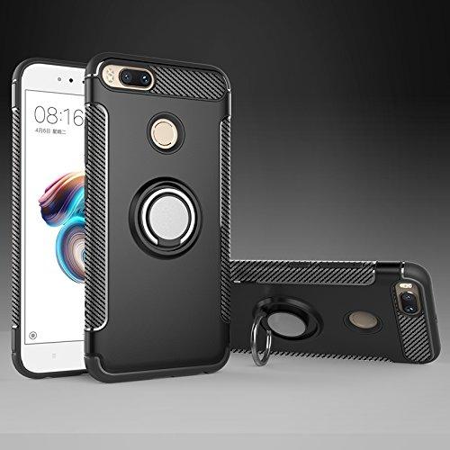 Phone Hülle Cover, Für Xiaomi Mi 5X/Mi5X, Rüstung Dual Layer 2 in 1 Heavy Duty Shockproof Schutzhülle mit 360 Grad rotierenden Fingerring Halter und Magnet Auto Halter Fall für Xiaomi Mi 5X/Mi5X
