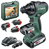 Bosch AdvancedDrill 18 Set Trapano-Avvitatore a Batteria AdvancedDrill 18 V con 1 Batteria, in Valigetta, Accessori