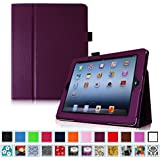 Fintie iPad 2 / 3 / 4 Hülle Case - Folio Slim Fit Kunstleder Schutzhülle Cover Tasche Etui mit Auto Schlaf / Wach Funktion für Apple iPad 2 / iPad 3 / iPad 4, Lila