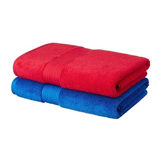 Amazon Brand - Solimo Ultra-Soft 100% Cotton 2 Piece Bath Towel