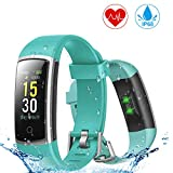 YONMIG Fitness Tracker, Activity Tracker with Blood Pressure Heart Rate Monitor, IP68 Waterproof