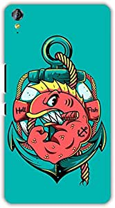 crazy Beta HELL FISH ON ANCHOR Printed Back Cover For Micromax Juice 3 Plus Q394