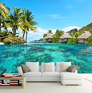 piso con vistas al mar: Hd Maldivas Vista Al Mar Naturaleza Paisaje Recubrimiento De Paredes Papel Tapiz...