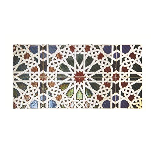 Glasmalerei Muster Bodenbelag Twill Selbstklebende Dekoration Wandaufkleber 98 * 49 Cm (38,58 * 19,29 In) (Muster Für Glasmalerei)