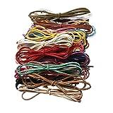 10pcs Multicolor 3mm cordón de piel sintética ante cordón 100cm de DIY pulseras collar de cordón cadena cuerda