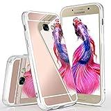 Spiegel Samsung Galaxy A3 (2017) | Hülle Rose-Gold Silikon [OneFlow Mirror Back-Cover] TPU Schutzhülle Dünn Handy-Hülle für Samsung Galaxy A3 2017 Case Ultra-Slim Silikonhülle Rückseite
