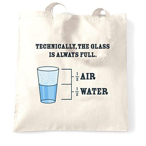 Das Glas ist immer voll Wissenschaft Witz Neuheit Slogan Diagramm Logo (Gläser Nerdy)