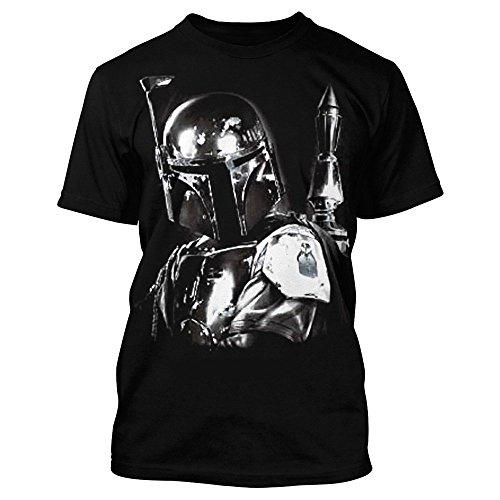 Fett-logo-t-shirt (Star Wars Herren T-Shirt - Boba Fett No Disintegration (XXL))