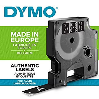 Dymo D1 Standard Labelling Tape 12mm x 7m - White on Black (B0009LY3E4) | Amazon price tracker / tracking, Amazon price history charts, Amazon price watches, Amazon price drop alerts