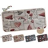 Alfombra Cocina Moderno Love multiusos Alfombra Corazones lavable en lavadora antideslizante Bordato 6 Tamaños cm 54 x 140 A - BEIGE