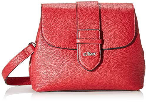 s.Oliver (Bags Damen 39.910.94.5808 Henkeltasche, Rot (Red), 8x18x22 cm