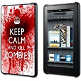 KEEP CALM AND KILL ZOMBIES - KINDLE FIRE COVER CASE