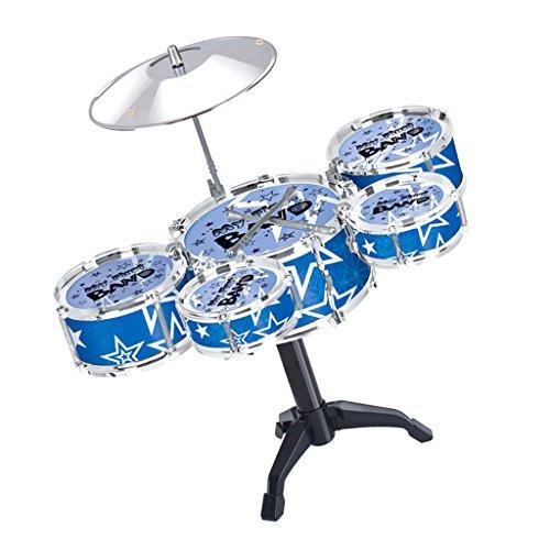 Sharplace Mini Jazz Drum Percussion Instrumente - 5 Schlagzeug Set - Kinder Musikalisches Spielzeug - Blau #1