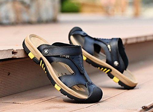 JiZhi sandali / pistoni di estate antisdrucciolevoli uomo / traspirante / infradito / scarpe da spiaggia / casuale esterno del tacco piatto / Walking Blue