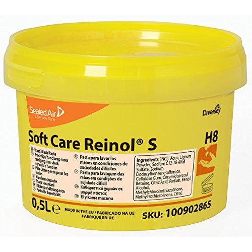 Diversey 100902865 Soft Care REINOL S, Handwaschpaste mit natürlichem Reibemittel, 0,5 L
