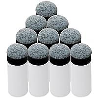 KEESIN 13mm Weich Cue Tipps Billard Ersatz Schraub-Tipps mit Pool Queue Stick Ferrules 10 Pack (Grau)