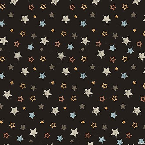 Apple iPhone 5 Housse étui coque protection Étoiles Rockstar Sombre Étui en cuir marron