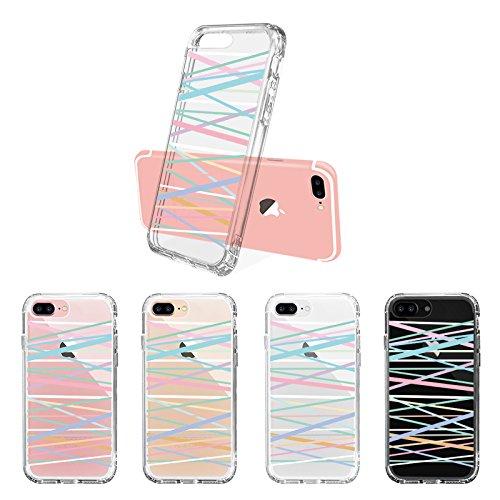 Mix Design Case for iPhone 7 Plus iPhone 8 Plus Fashion Stripes