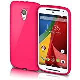Motorola Moto G2 Hülle Silikon Pink [OneFlow Brushed
