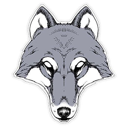 Generique - Wolf Maske aus Pappkarton