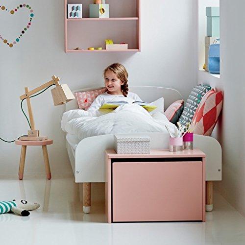 Flexa aufbewahrungs-kiste PLAY de estable madera en rosa con suficiente espacio almacenamiento para jegliches Juguete, juguetes niños goma ruedas y easy-grip-schubladen Ligero ABRIR