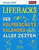 Lifehacks - der hilfreichste Kalender aller Zeiten - Kalender 2019 - Harenberg-Verlag - Tagesabreißkalender mit Alltagstipps - 11 cm x 14 cm