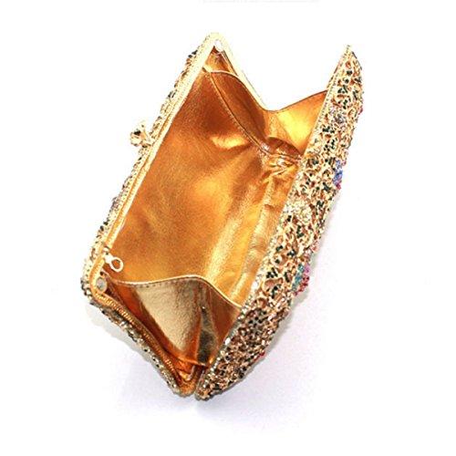 Loro Della Borsa Della Borsa Di Sera Casuale Del Diamante Di Modo Delle Donne