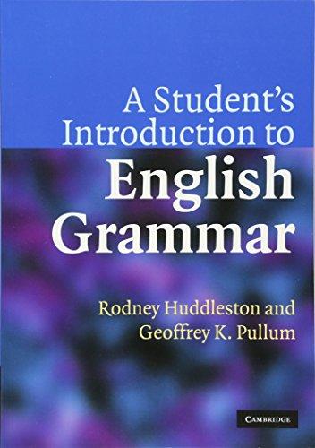 A Student's Introduction to English Grammar Paperback por Huddleston