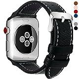 7 Farben Für Apple Watch Armband 38mm, Fullmosa® Grobe Litsch Textur Hauptschicht Lederarmband...