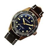 BINGABSFW Men Sixty-Five Vintage Bronze Uhr Taucheruhr Schweizer ETA2824 Automatikuhr 200m Wasserdicht Montre Homme Männer