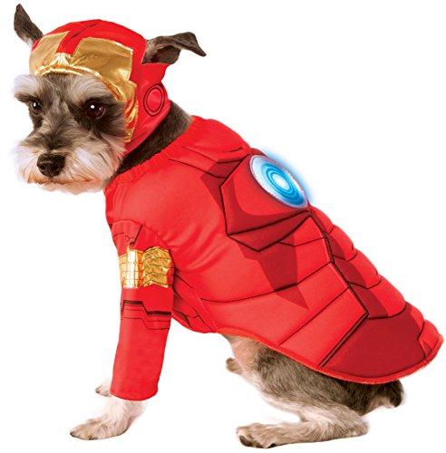 Rubies Costume Avengers Assemble Deluxe Iron Man Pet Kostüm, groß