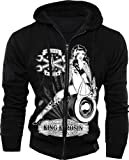 King Kerosin Hoodie Wrench Girl Black Zip-S