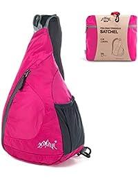 7540541e9b GSTEK Packable Shoulder Backpack Lightweight Foldable Sling Backpack  Crossbody Bag Pack for Outdoor Sports