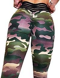 Pantalones de Yoga para Mujeres, Cenyanga Camuflaje Print Workout Gym Run Yoga Leggings Deportivos