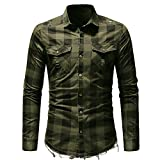 Blusa de Hombre, ZODOF Camisetas de Cuadros Ocasionales de otoño de los Hombres Camisa de Manga Larga Jersey Blusa Color Block con Capucha para Hombre
