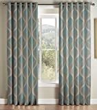 Jeff Banks Cyrus Teal Lined Eyelet headed Curtains 168*229