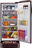 LG 190 L 4 Star Direct Cool Single Door Refrigerator(GL-D201ASPX.ASPZEBN, Scarlet Plumeria, Base Stand with Drawer, Smart Inverter Compressor)