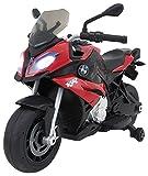 Jamara 460252 - Ride-on Motorrad BMW S1000XR rot 6V - Leistungsstarker Antriebsmotor und Akku, LED-Scheinwerfer, Rücklicht, beleuchtetes Armaturenbrett, Sound, MP3 Player, Startknopf, Handgas, Bremse